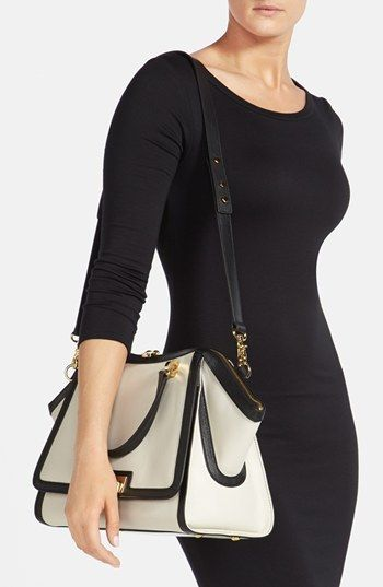 Awesome Zac Posen satchel. Loving white with black accents this year.: Black Accent