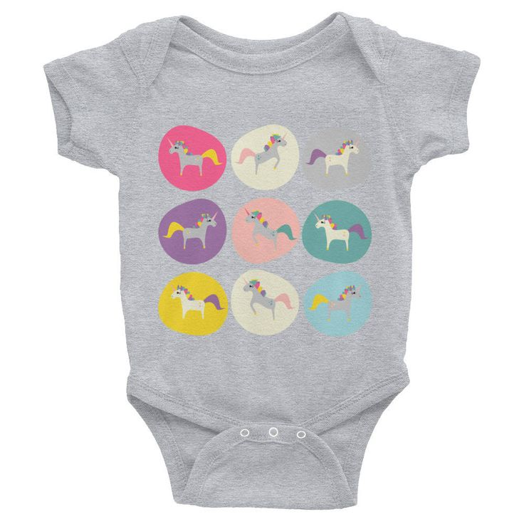 Excited to share the latest addition to my #etsy shop: Boho Baby Unicorn http://etsy.me/2pySwaM #clothing #children #bodysuit #gray #anniversary  #clothing #children #bodysuit #gray #anniversary #babycloths #babybodysuit #coolkids #bohokids #babyoutfit #babyfashion