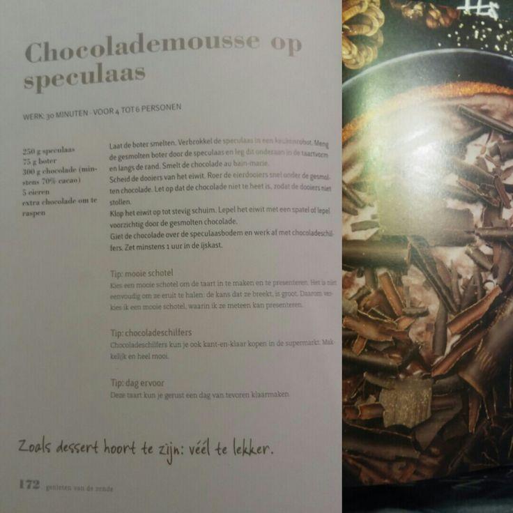 My favorite!! Chocolademousse op speculaas