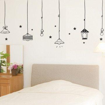 My design inspiration lights stars wall decal black on fab