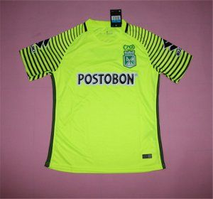 Atletico Nacional Medellin 17-18 Season 70th Anniversary Yellow Jersey [J734]