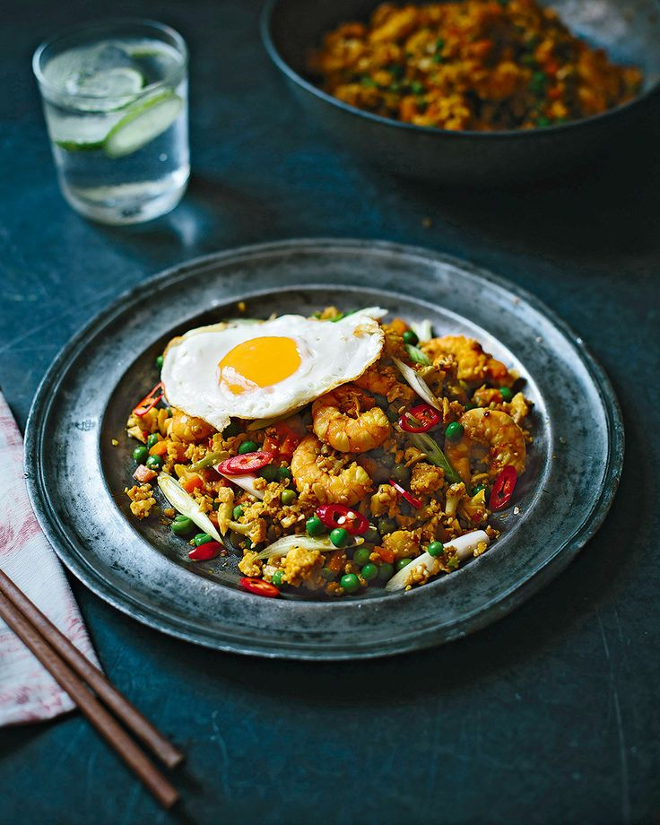 Nasi Goreng - A healthy version of the Indonesian classic, Donal Skeehan uses cauliflower rice for a big dose of vitamin C.