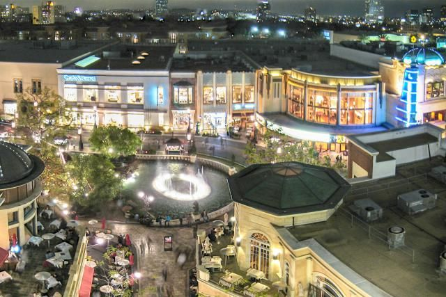 The Grove Los Angeles: A Shopping Area With a Charming Main Street: The Grove Los Angeles at Night