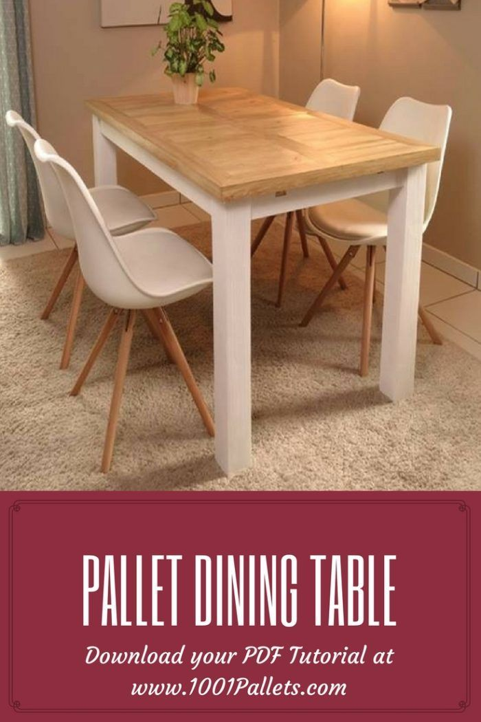 Pallet Table Plans Pallet Dining Table This Pdf Tutorial By Beatrice D Asciano From Le Blog De Diy Dining Table Pallet Furniture Outdoor