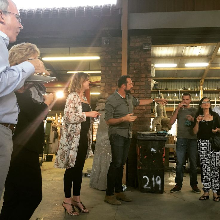 #welcoming of #guests at #sculptor #angus_taylor's #studio for the #first #collectors_club #event 2016! #pretoria #fried_gallery