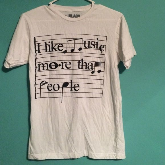 music graphic tee I like music more than people Hot Topic Tops Tees - Short Sleeve