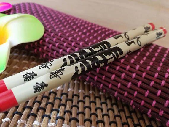 Red Longevity Asian Chopsticks