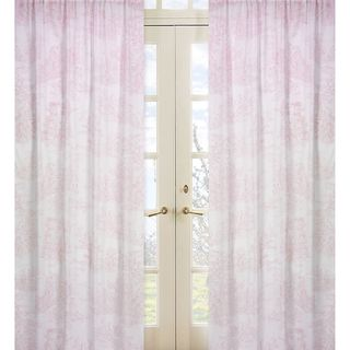 Sweet Jojo Designs Pink And White 84 Inch Window Treatment Curtain Panel  Pair For Pink French Toile Collection By Sweet Jojo Designs