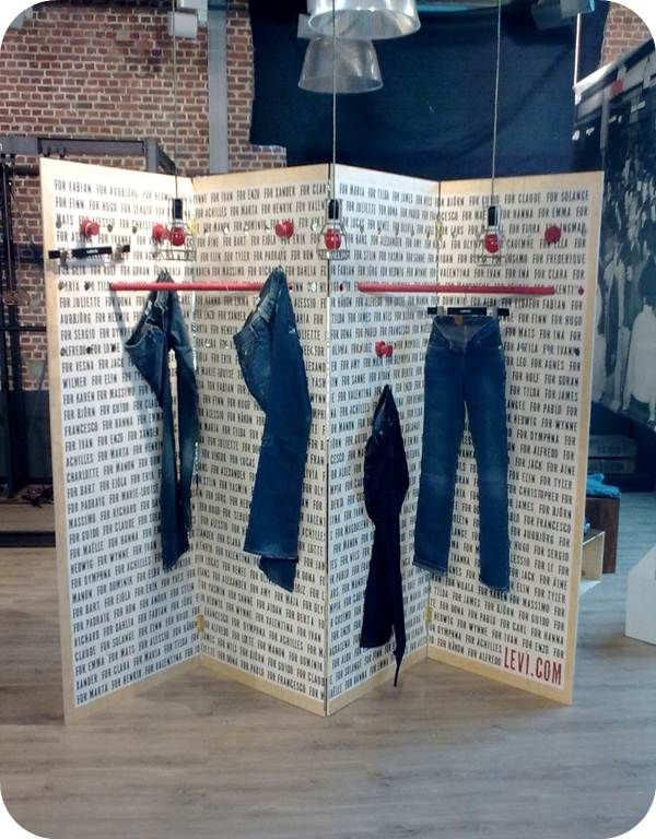 Levis Brussels Flagship Store Installation by Ruck Retail Solutions    www.ruck.ltd.uk