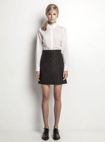 Helen Cherry Ricky Shirt (White) & Mary Mini Skirt (Black) #HelenCherry