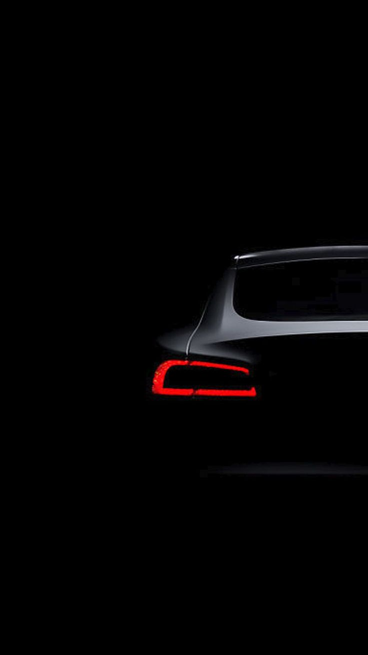Tesla Model S Dark Brake Light iPhone 6+ HD Wallpaper