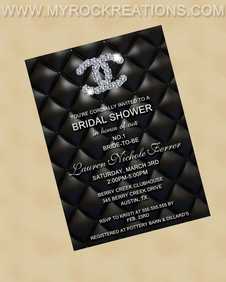 104 best coco chanel inspired bridal shower images on pinterest very me haha chanel bridal shower invitation digital printable invitation filmwisefo