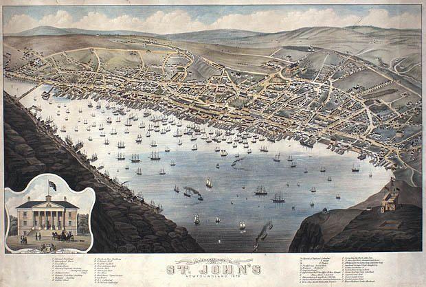 Panoramic view of St. John's, Newfoundland and Labrador, 1879 / Vue panoramique de St. John's, Terre Neuve et Labrador, 1879   by BiblioArchives / LibraryArchives