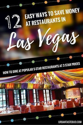 How to Save Money at Restaurants in Las Vegas