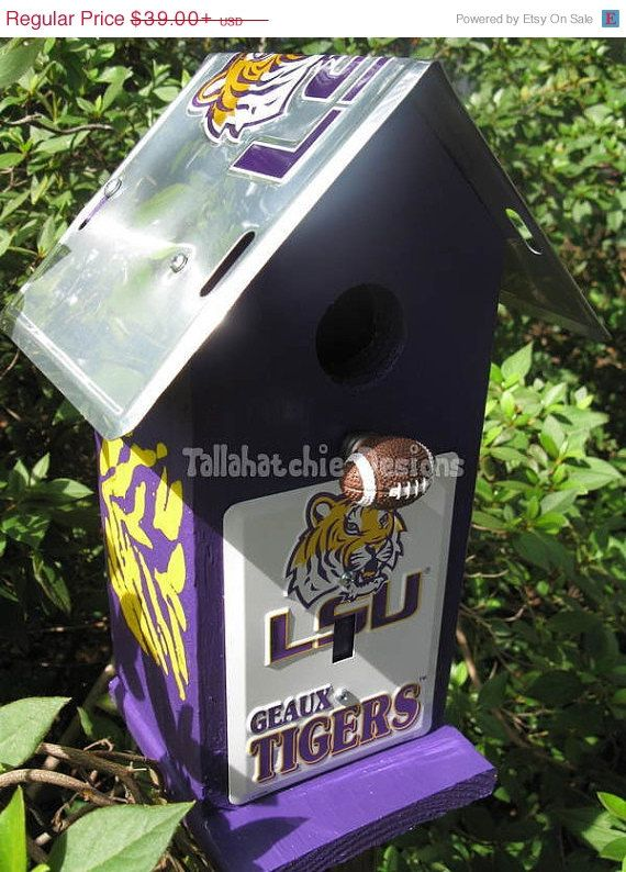 25 Off TODAY LSU birdhouse LSU Tigers by TallahatchieDesigns, $29.25