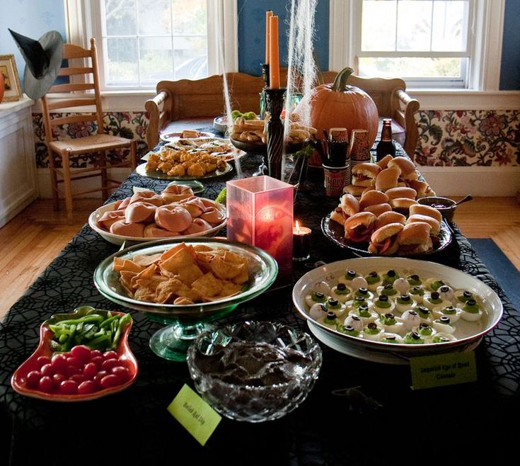 halloween dinner images