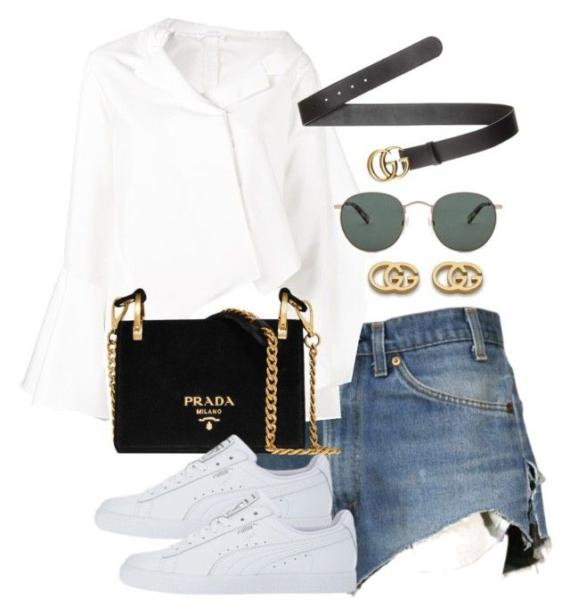 """Untitled #4439"" by theeuropeancloset on Polyvore featuring Dukes, Adeam, Prada, Gucci and raen"