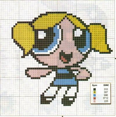 PPG Bubbles perler bead pattern
