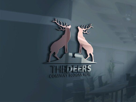 Deers Logo by eSSeGraphic on @creativemarket