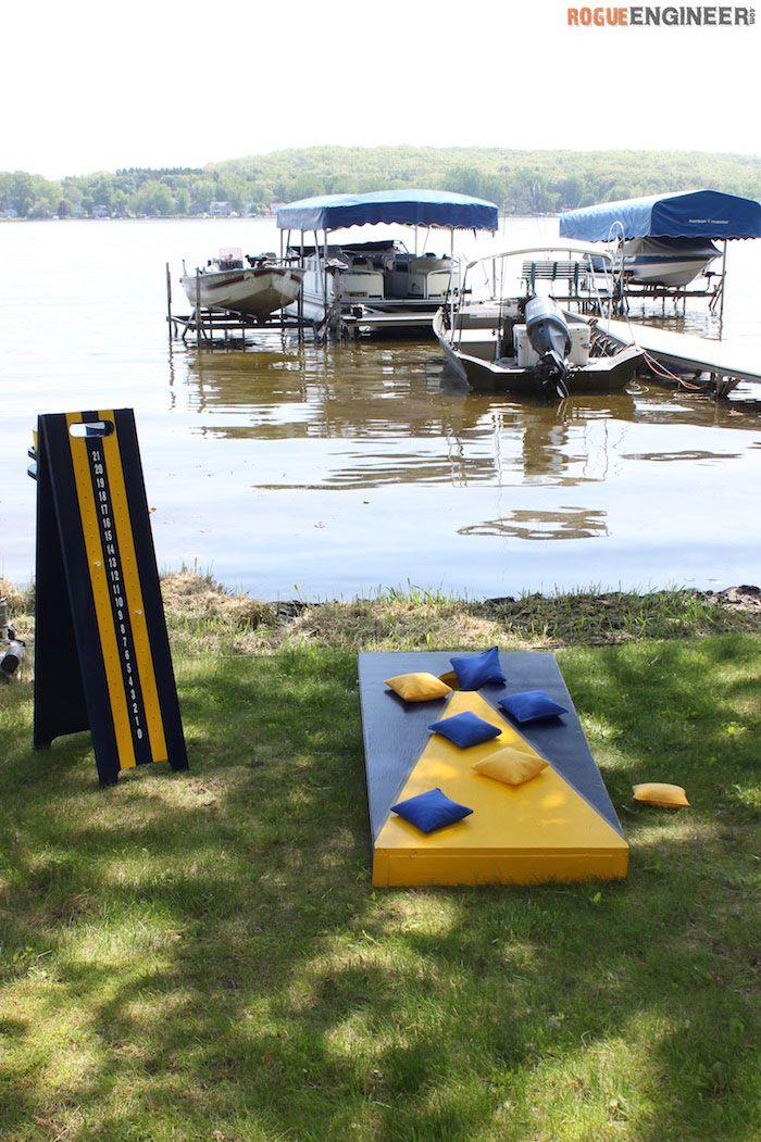 DIY Cornhole Board Plans  - Free Plans | rogueengineer.com #CornholeBoard #OutdoorDIYplans