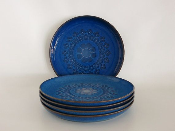 Set of 5 Vintage Denby Midnight Plates at Eight Mile Vintage on Etsy & 132 best Denby Pottery images on Pinterest | Porcelain Pottery and ...