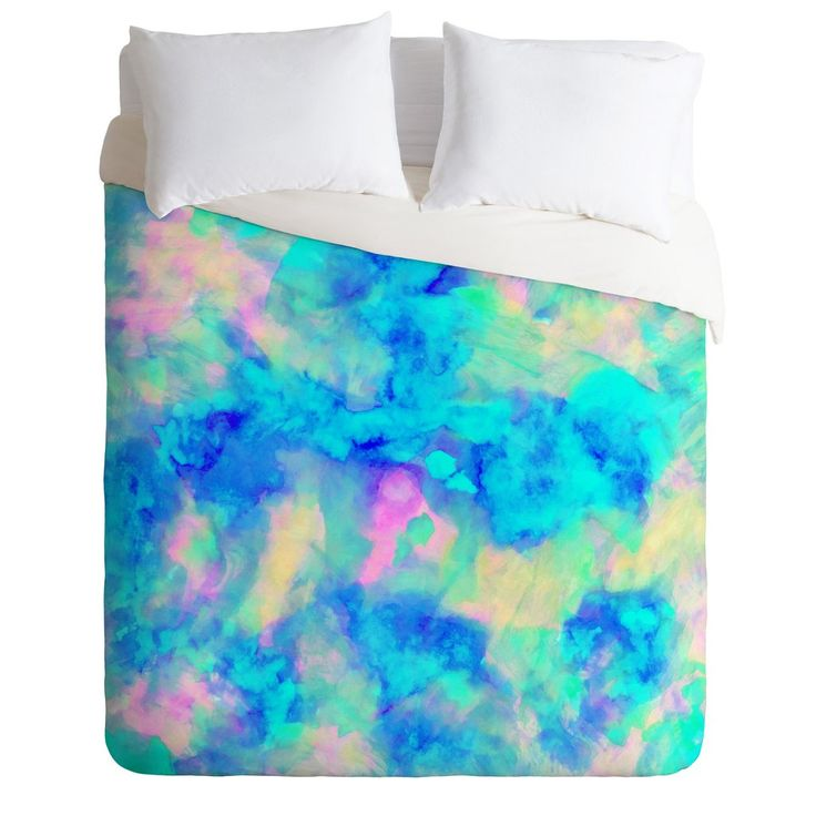 Amy Sia Electrify Ice Blue Duvet Cover | DENY Designs Home Accessories