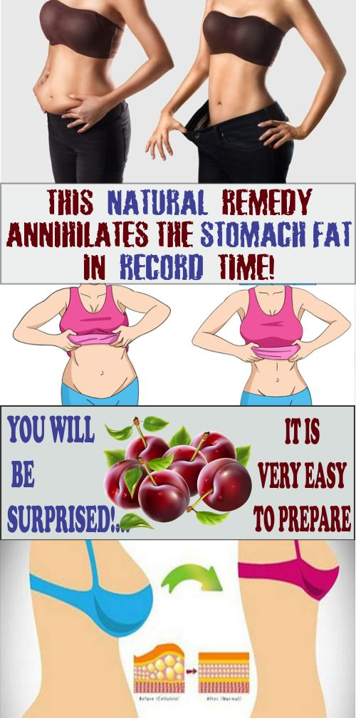 This Natural Remedy Annihilates The Stomach Fat in Record Time! You Will Be Surprised! It Is Very Easy To Prepare.