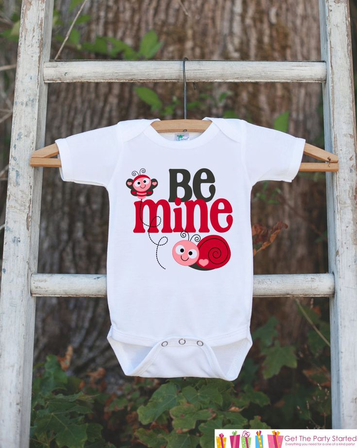 Girls Valentines Day Outfit - Be Mine Valentines Onepiece - Novelty Valentine Shirt for Baby Girls - Kids Valentines Day Outfit Love Bug