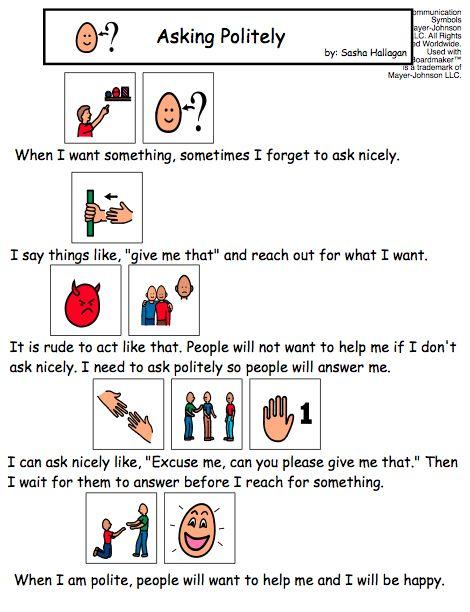 Social Story for Asking Politely