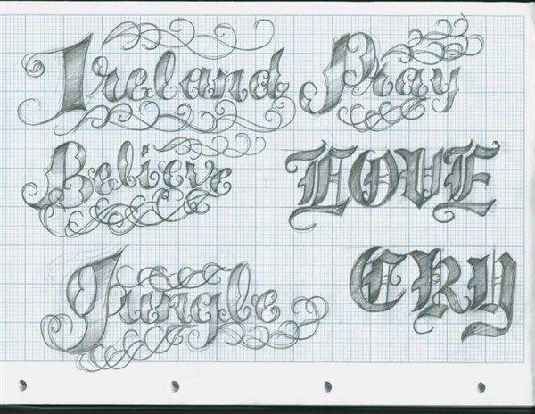 paso 3 para dibujar letras goticas