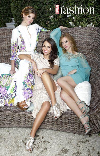 Paula Echevarría, Manuela Velasco y Marta Hazas, protagonista de Galerías Velvet, en ¡HOLA! Fashion