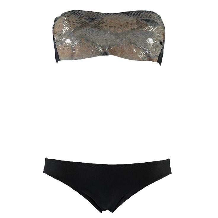Bikini Ragno a fascia in fantasia pitone sul top - € 69,90 ! Nico - #nicoit #nicoabbigliamentocalzature #summer #splash #summersplash #seaside #bikini #newarrivals #newcollection #swimsuite #ragno
