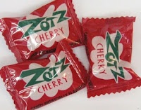 Zotz candy with the fizzy center