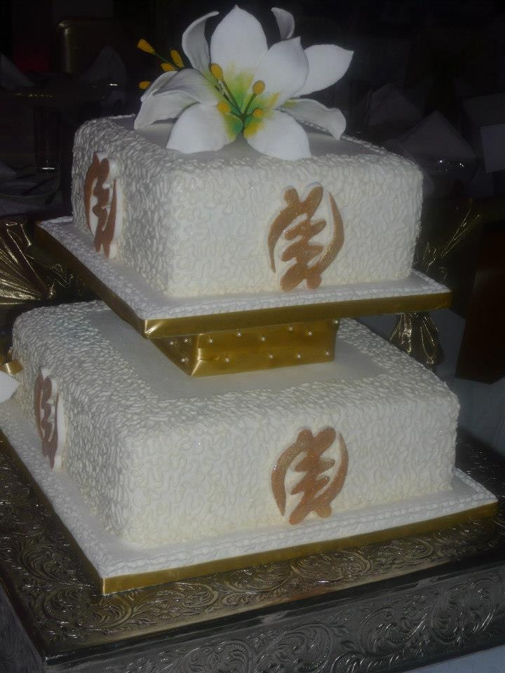 Dear God:   If I am so blessed to see my wedding day, this cake MUST be at the reception! Please, and thank you.  Amen!    *Gye Nyame cake made by Sugar N Spice in Accra, Ghana*