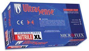 Small UltraSense Nitrile Gloves, Powder-free, 100/box by Light Labs. $13.00. * Ultra-soft, next generation nitrile formulation * Reliable barrier protection against many hazardous and infectious substances * Outstanding grip in wet and dry environments * Affordable nitrile glove provides the superior value * 100 gloves per dispenser box UltraComfort Ultra-soft, next generation nitrile formulation provides the relaxing fit and feel that you would expect from a ...