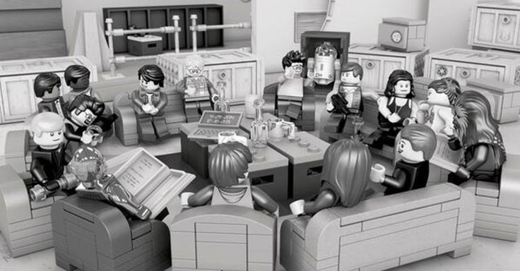 Lego recreates the iconic 'Star Wars: Episode VII' cast photo on Twitter.
