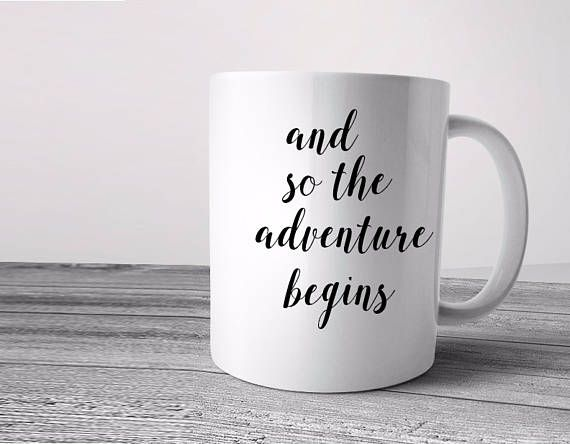 and so the adventure begins, graduation gift, graduation gift, graduation mug, graduation gift for her, graduation gift for him, coffee mug  This cute design will be printed on best quality Grade A white Ceramic and Silver metallic designs. We use dye sublimation and heat transfer technique to print the design on the mugs. This ensures that the design and the words will look brand new for an extended period of time. Also, all the mugs are both dishwasher and microwave safe.  Gift Packing…