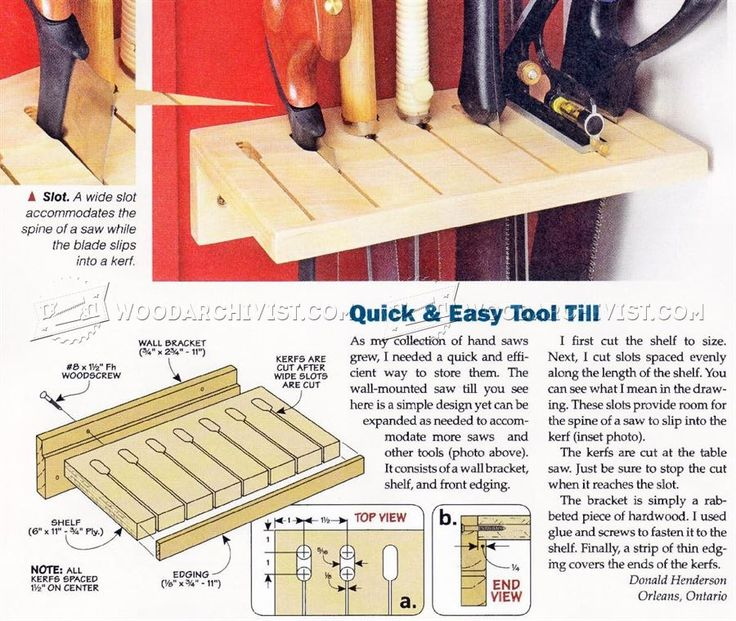 Making Saw Till - Workshop Solutions Projects, Tips and Tricks | WoodArchivist.com