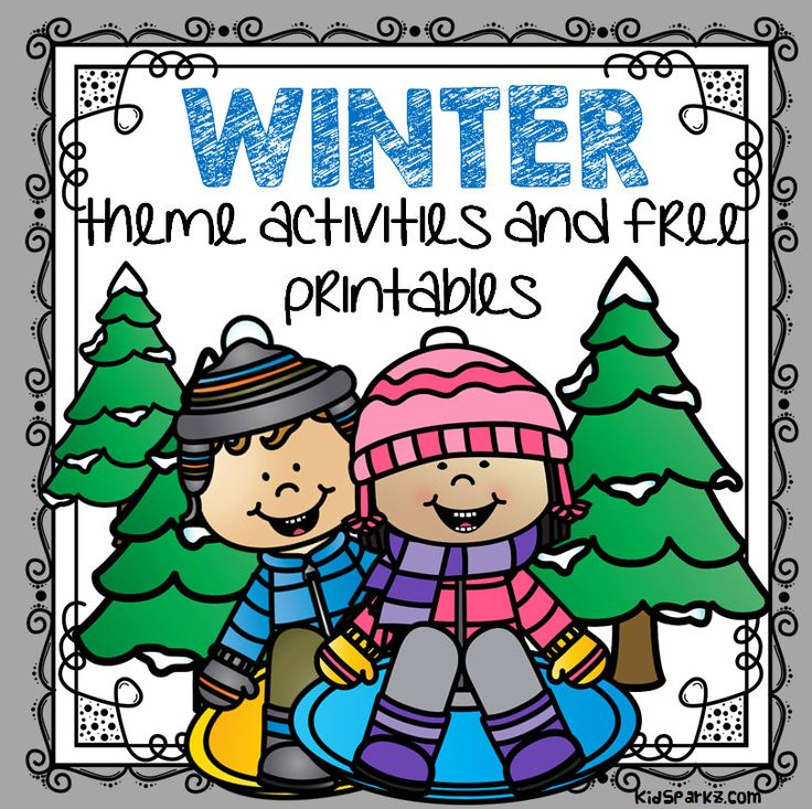 Winter themed activities, centers, FREE printables and games to make to be used when planning activities and curriculum for  preschool, pre-K  and Kindergarten children.