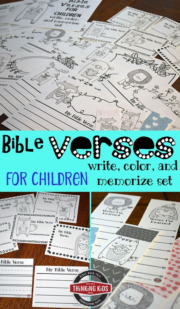 Bible Verses for Children: A Write, Color, and Memorize Set | Bible ...