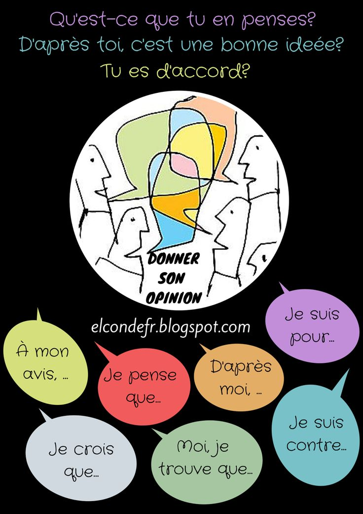Donner son opinion - des expressions en français pour donner des opinions - expressions for giving opinions in French