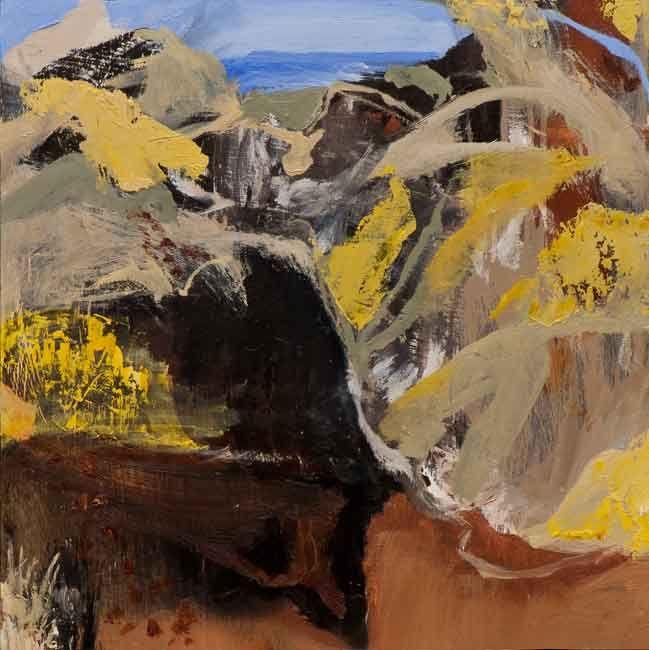 © Luke Sciberras ~ Study for the Road to Mypongu ~ 2013 oil on board at Tim Olsen Gallery Sydney Australia