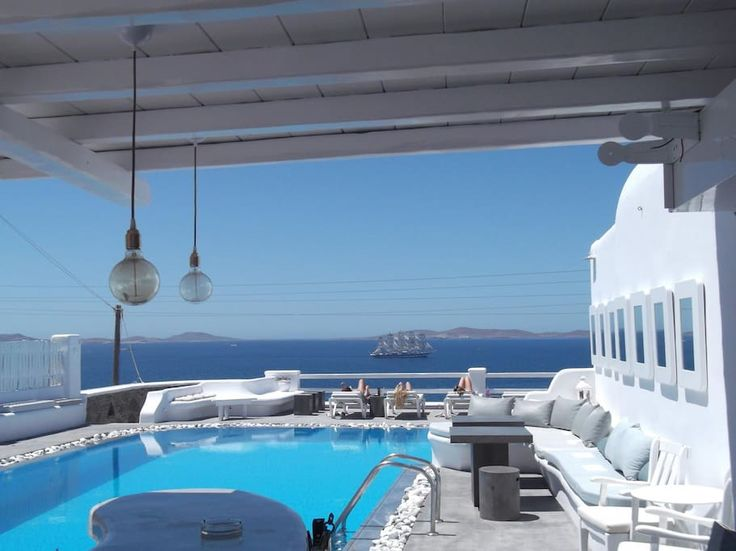 Apartment in Mikonos, Greece. Our apartments are 2km away from Mykonos town.There is close bus station, mini market, free parking space, a Greek tavern and a pool bar-restaurant in our swimming pool with sea view, where you can have breakfast, lunch or dinner all in very speci...