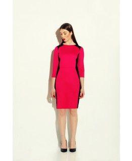 sukienka geometric cut pink
