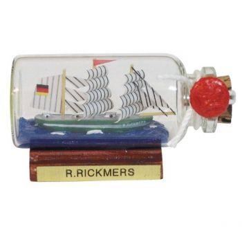 Maritmes Buddelschiff-Flaschenschiff Rickmer Rickmers als schöne Geschenkidee und für Sammler.   KEINE VERSANDKOSTEN INNERHALB DEUTSCHLANDS!!   Bei Bestellung 1 Stück= 1VE a 5 Stück