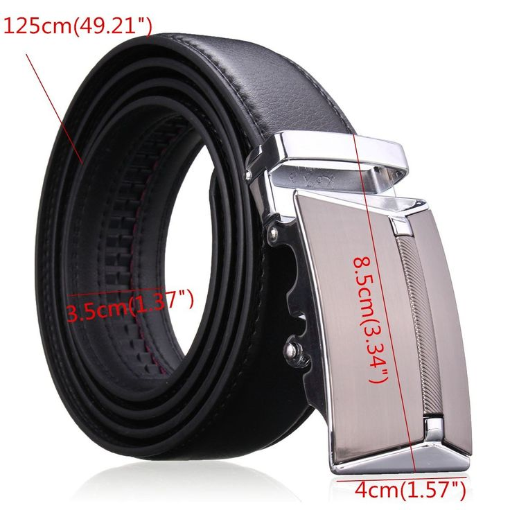 Men Second Floor Cowhide Leather Belt Automatic Buckle Black Brown Waist Strap Waistband at Banggood