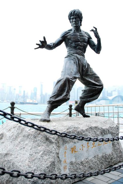 Statue in Hong Kong dedicated to Bruce Lee