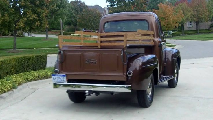 1951 ford f 3 pickup restored classic muscle car for sale in mi 48 52 fat fendered ford. Black Bedroom Furniture Sets. Home Design Ideas