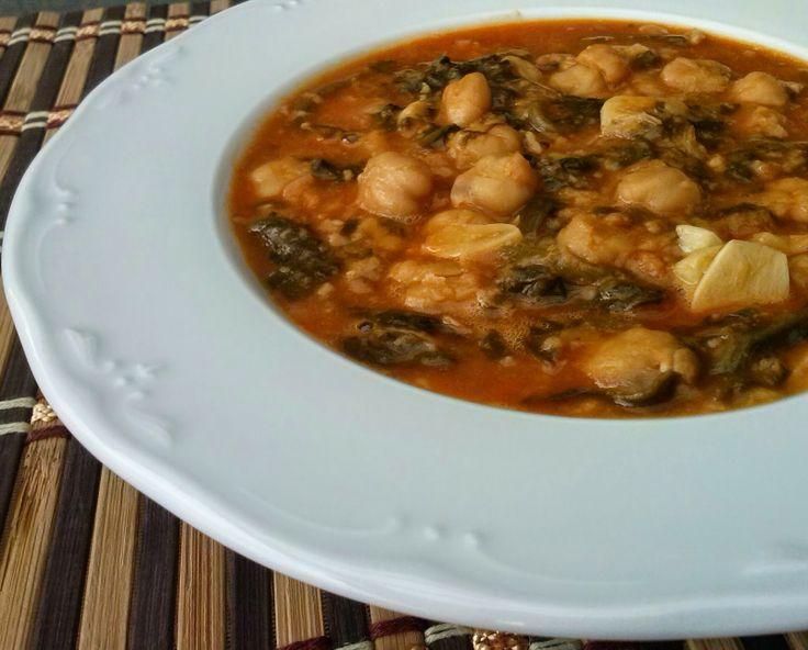 La cocina de sole acelgas con garbanzos receta vagana - Garbanzos olla express ...
