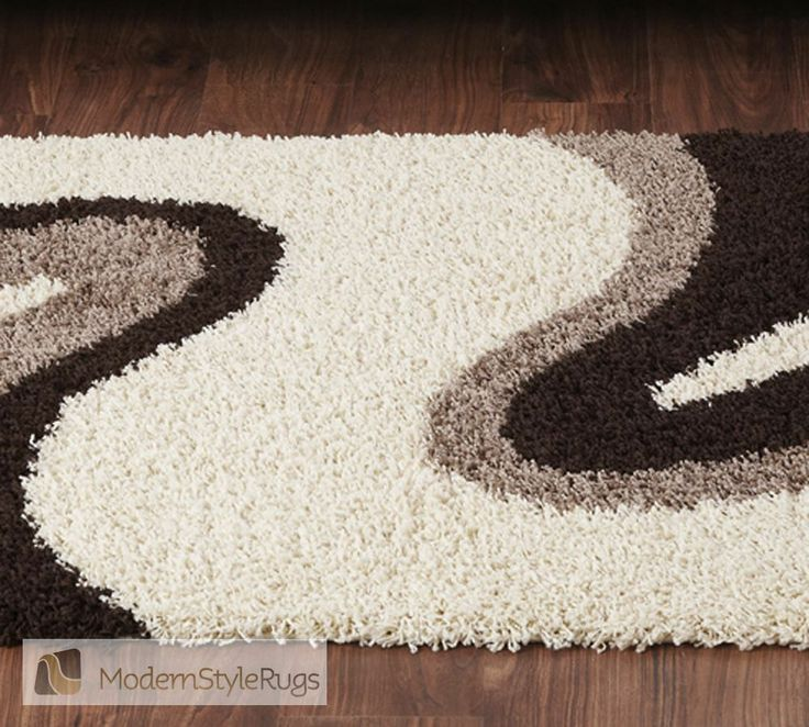 Sienna Ripple Cream Brown Rug   Modern Style Rugs